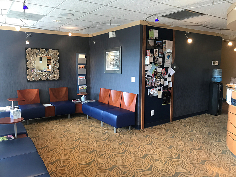 Dr. Choraks patient waiting room located in our Fairwood Washington office.